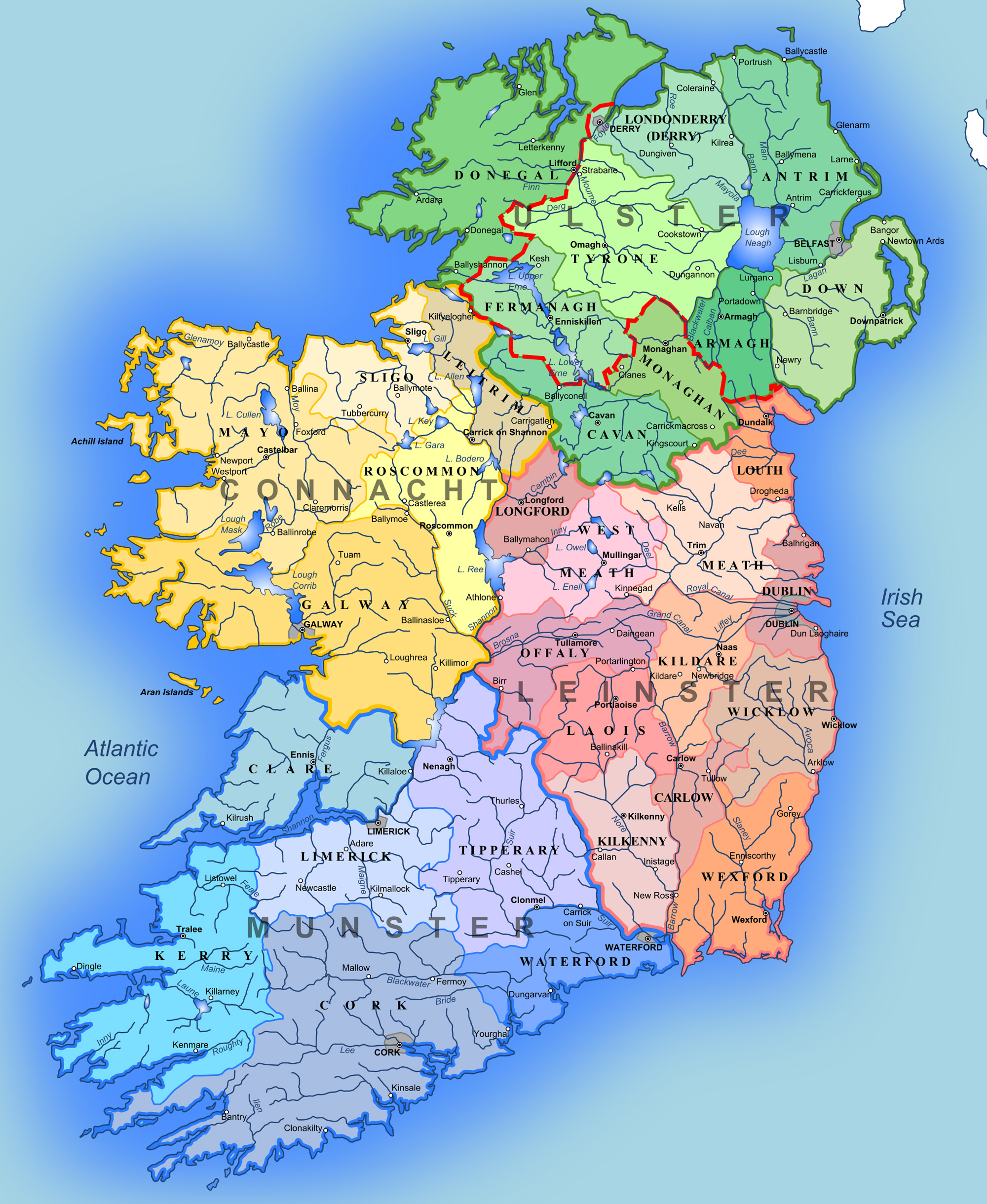 Administrative Map of Ireland